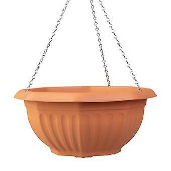 Wham Almacenamiento 35cm cesta colgante de plástico octogonal con cadena metálica