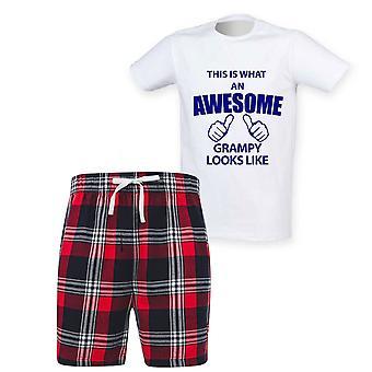 Mens Tämä on mitä mahtava grampy näyttää Tartan Lyhyt Pyjama Set