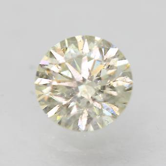 Certificado 0.52 Quilates J VS2 Redondo Brillante Diamante Suelto Natural Mejorado 5.13mm