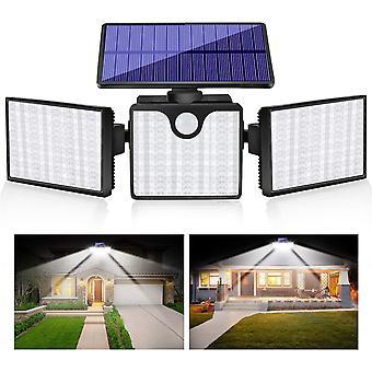 Gerui Solar Lights Outdoor,266 LED Solar Motion Sensor Security Wall Lights with 3 Adjustable Heads