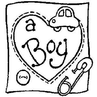 En gutt tre montert stempel