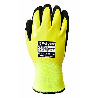 Polyco GIOTH/09 Polyco Grip It Oil Thermal Gloves Size 9