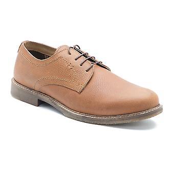 红色磁带 马洛 谭 磨 皮革 正式 男士 德比 鞋