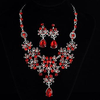 Multiple Colors Water Drop Wedding Bridal Formal Party Prom Jewelry Sets