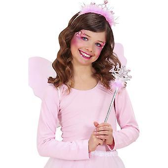 Roze prinsessenstok en tiara
