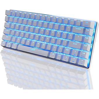 AK33 wired Mechanical Gaming Keyboard, weiße LED Hintergrundbeleuchtung 82 Tasten E-Sport Gamer Tastatur für Büro Typisten Spielen (weiß)