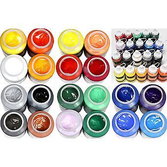HanFei Studio-Acryl Mega-Farbset 20 x 250 ml Tube, insgesamt 5.000 ml Künstlerfarbe Acrylfarbe