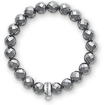 FengChun Damen-Armband Charm Club 925 Silber Hmatit 18,5 cm - X0187-064-11-XL