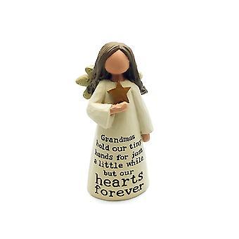 Smuk udformet bedstemor engel følelse dekoration gave
