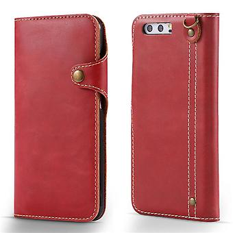 Wallet leather case card slot for iphone 6s red on330