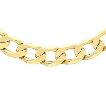TJC 9K Gul Guld Curb Chain for kvinder Fødselsdag Gift 20 '' i blank Finish
