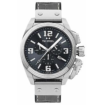 TW Steel Canteen Grey Leather Strap TW1013 Watch