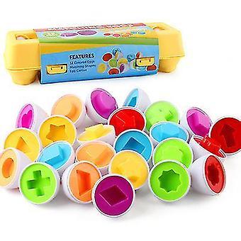 Formas combinando ovos forma de recoginição sorter quebra-cabeça x1245
