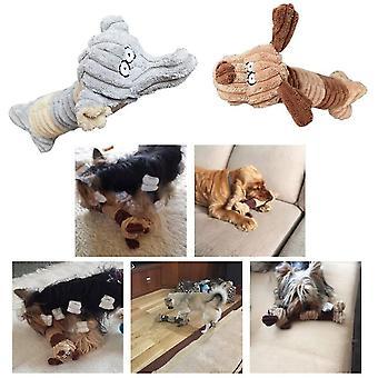 Korkealaatuinen pp puuvilla vinkuva koiran lelut ääni lelu koira dt6227
