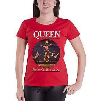Queen T Shirt One biter støvbåndlogoen ny offisiell kvinners skinny fit rød