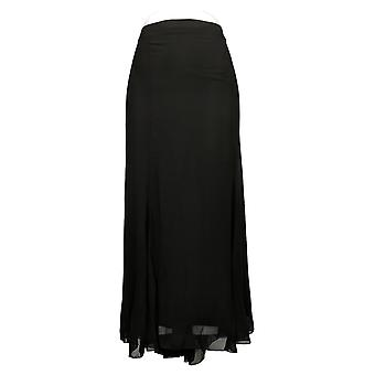 Antthony Skirt Plus Chiffon Overlay Printed Gore Black 716485
