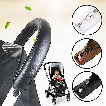 Baby barnevogn Tilbehør Klapvogn Armlæn Pu Læder case Cover For Arm Covers