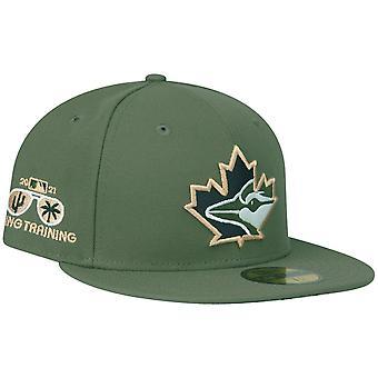 Новая Эра 59Десятая Приталенная крышка - MLB Торонто Блю Джейс оливковый
