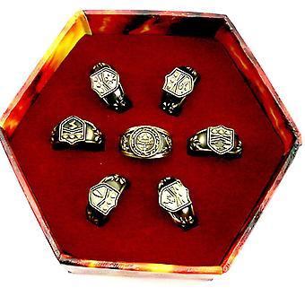7pcs נולד מחדש טבעת אנימה Electroplated טבעת אצבע סלילית עבור Cosplay