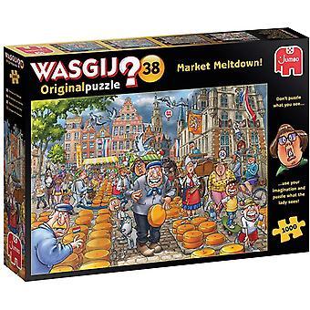 Wasgij Original 38 Market Meltdown! Jigsaw Puzzle (1000 Pieces)