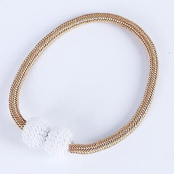 Simple curtain bandage rope magnetic buckle thick rope small pearl curtain buckle