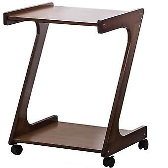 طاولة القهوة القابلة للإزالة مع عجلات، طاولة بجانب السرير