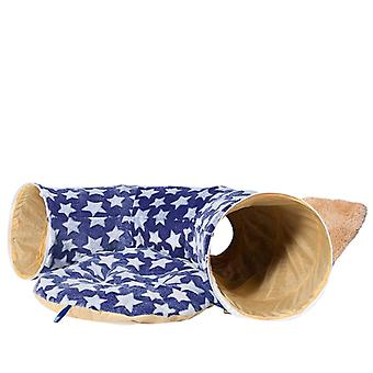 Cat tunnel bed with cushion