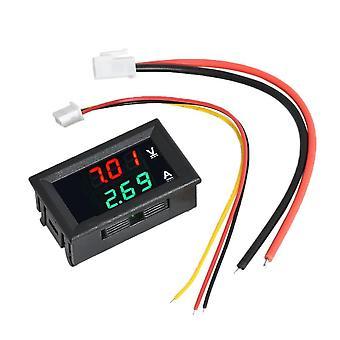"Mini digitálny voltmeter ammeter dc 100v 10a panel amp volt napätie prúd merač tester detektor 0,56"" dual LED displej auto auto auto"