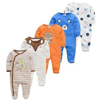 5kpl Sleepers Vauvan pyjama Vastasyntynyt Pijamas Bebe Fille Puuvilla Hengittävä Pehmeä