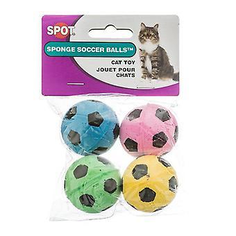 Spot Spotnips Svamp Fotboll Bollar KattLeksaker - 4 Pack