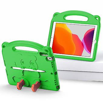 Case For Ipad 9 10.2 2021,shockproof Lightweight Convertible Handle Stand Protective Kids Child Cover - Green Panda