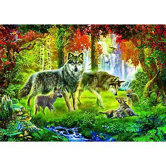 Bluebird Summer Wolf Family Jigsaw Puzzle (1000 Pieces)