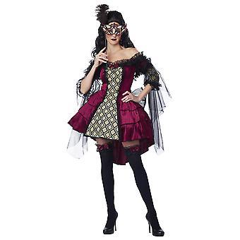 Mysterious Masquerade Victorian Renaissance Halloween Ball Women Costume