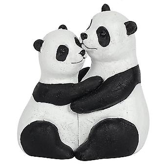 Holiday ornament displays stands panda couple ornament