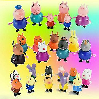 Stuffed animals 25x peppa pig family friends emily rebecca suzy action figure toys