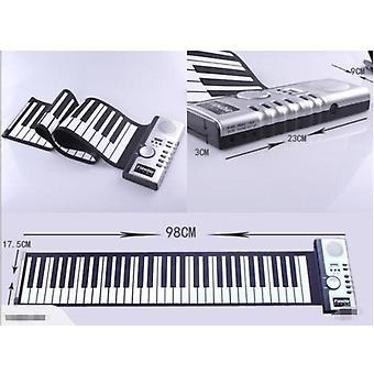 Klaver med krøllet klaviatur