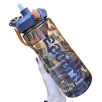 1500ml Large Capacity Portable Portable Straw Leakproof Sports Water Bottle