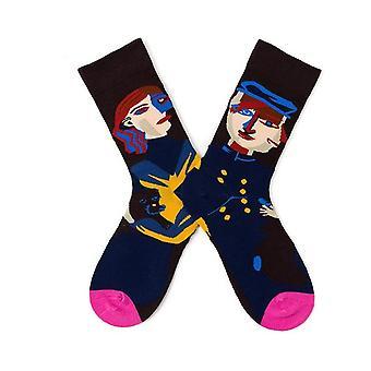4pcs Lustige Socken für Herren-Neuheit Funky Herren Socken Multipack Bunte Socken