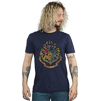 Harry Potter Men's Hogwarts Distressed Crest T-Shirt