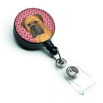 Carolines skarby SS4517BR Bullmastiff chowany odznaka bębnowa lub identyfikator właściciela w