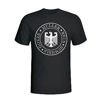 T-shirt presidencial Alemanha (preto)