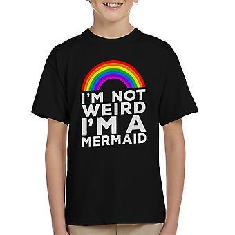Im T-Shirt de Im pas bizarre A Mermaid Kid