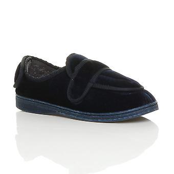 Ajvani mens diabetic orthopaedic memory foam wide fit adjustable house slippers