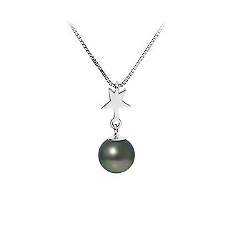 Tahiti Pearl Star pendant necklace and Massif Silver Chain 925 7099