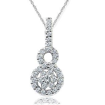 1 / 2ct SI Diamond anheng 14K hvitt gull