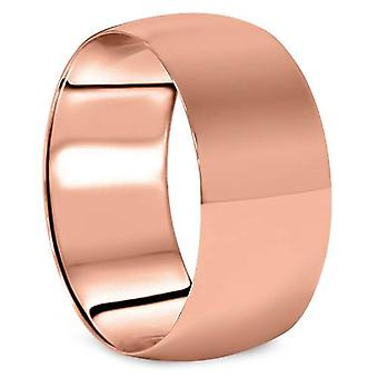 10 Dome mm hoog gepolijste trouwring 14K Rose Gold