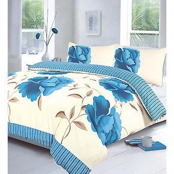 Rosaleen Blumen gedruckt Bettdecke Quilt Abdeckung Floral Bettwäsche Set mit Kissen-Fall