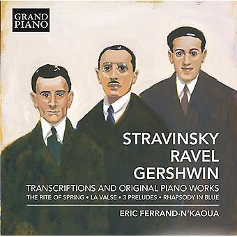 Stravinsky / Ravel / Gershwin / Ferrand-Nkaoua - Transcriptions & Original Pno Works [CD] USA import