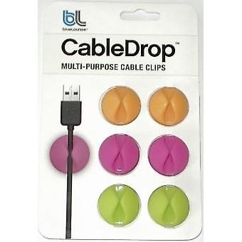 Bluelounge cable Halter Cable drops 6 x light colors