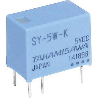 Takamisawa SY-05W-K PCB relæ 5 V DC 1 A 1 Skift-over 1 pc (s)